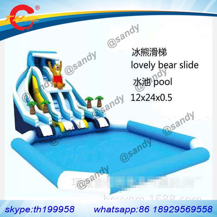 Inflatable Water Slide Port Macquarie: Free Sea Ship To Port,inflatable Little Bear Wet Slide