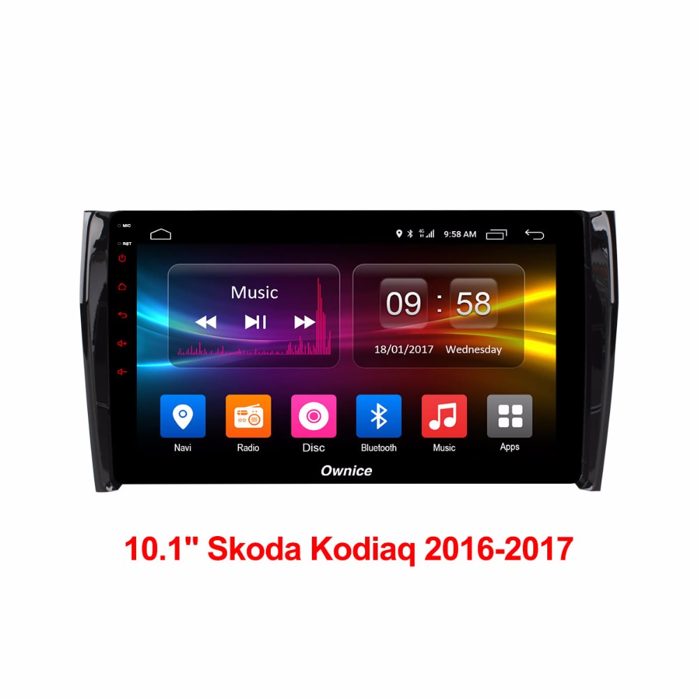 HD 10 1 inch Android 6 0 Car DVD Player For Skoda Kodiaq 2016 2017