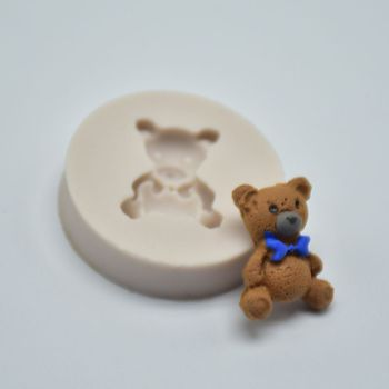 1PC Bear Silicone Mold  Mini Fondant Mold Cake Decorating Tools Chocolate Gumpaste Mold chocolate soap mold soap flower modelling silicon soap mold fondant cake decoration mold sleep baby soap mold 100% food grade raw material
