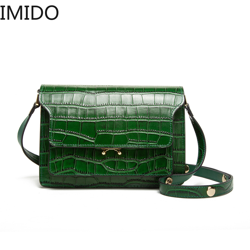 IMIDO 2019 New Leather Casual Fashion Couture Womens Shoulder Slant Span Pack Luxury Handbags Designer Famous  Genuine LeatherIMIDO 2019 New Leather Casual Fashion Couture Womens Shoulder Slant Span Pack Luxury Handbags Designer Famous  Genuine Leather