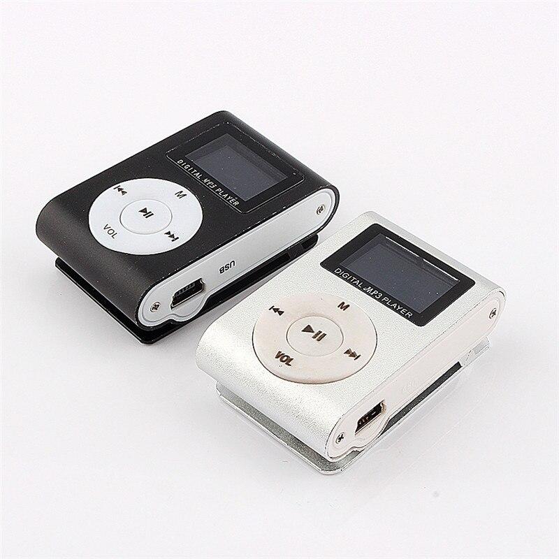MP3 плеера ЖК-дисплей Экран Мини Тонкий MP3 плеер Поддержка Микро-гнездо для карты памяти 2/4/8/ 16/32 ГБ