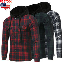 2019 Brand New Style Plus Size Men Casual Long Sleeve Plaid