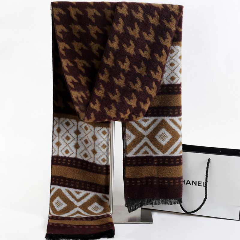Spring Casual Cashmere Scarf Men Winter Scarf Luxury Brand font b Tartan b font Patchwork Echarpes