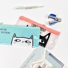 B6 Funny Cat  PVC File Bag Document Bag File Folder Stationery Filing Production