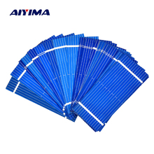 Aiyima 100pcs Mini 52*22MM 0.19W Solar Panel Polycrystalline Solar Panel Battery Cell DIY Phone Charging