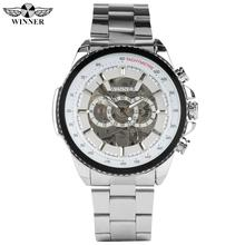 Silver Stainless Steel Band Skeleton Mechanical Watch for Men Fashion Automatic-self-winding Watches for Male Hollow Dial Watch стоимость