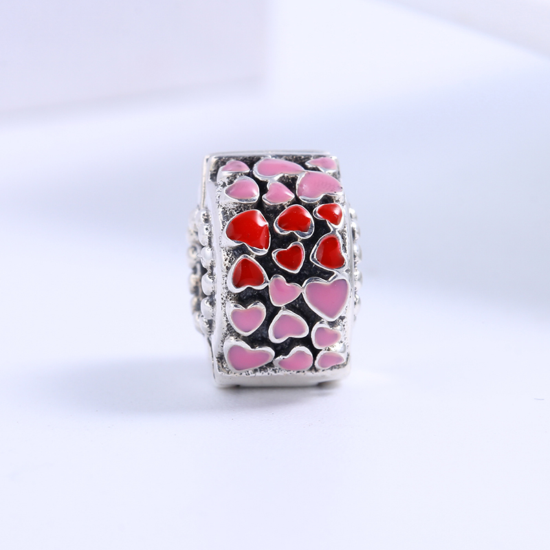 2018 Valentines Day 100% 925 Sterling Silver Fit Original Pandora Bracelet Burst of Love Clip Charm Beads for Jewelry Making