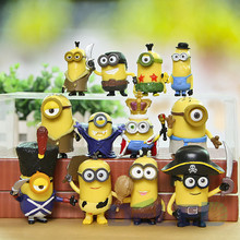 12Pcs/Set Opp Pakcing Despicable Me 3 Minions Ornaments Decoration PVC Action Figures Dolls For Kids Children Toys Gifts