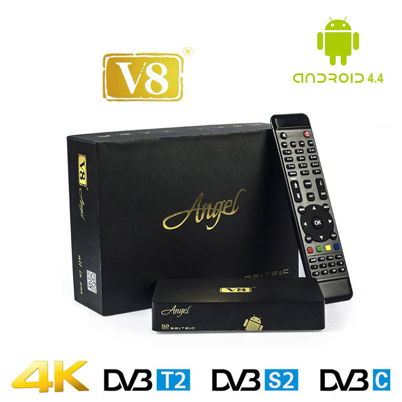 Best Price HD Satellite Receiver FTA Freesat V8 Angel DVB Tuner DVB-S2/T2/C Support Cccam Europa Cline Internet TV Receiver Box i box rs232 dvb s satellite smart sharing nagra 3 dongle black
