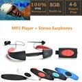 Deporte IPX8 8 GB reproductor de música MP3 A Prueba de agua bajo el agua reproductor de mp3 con FM de Radio MP3 de Audio Auriculares de Natación surf
