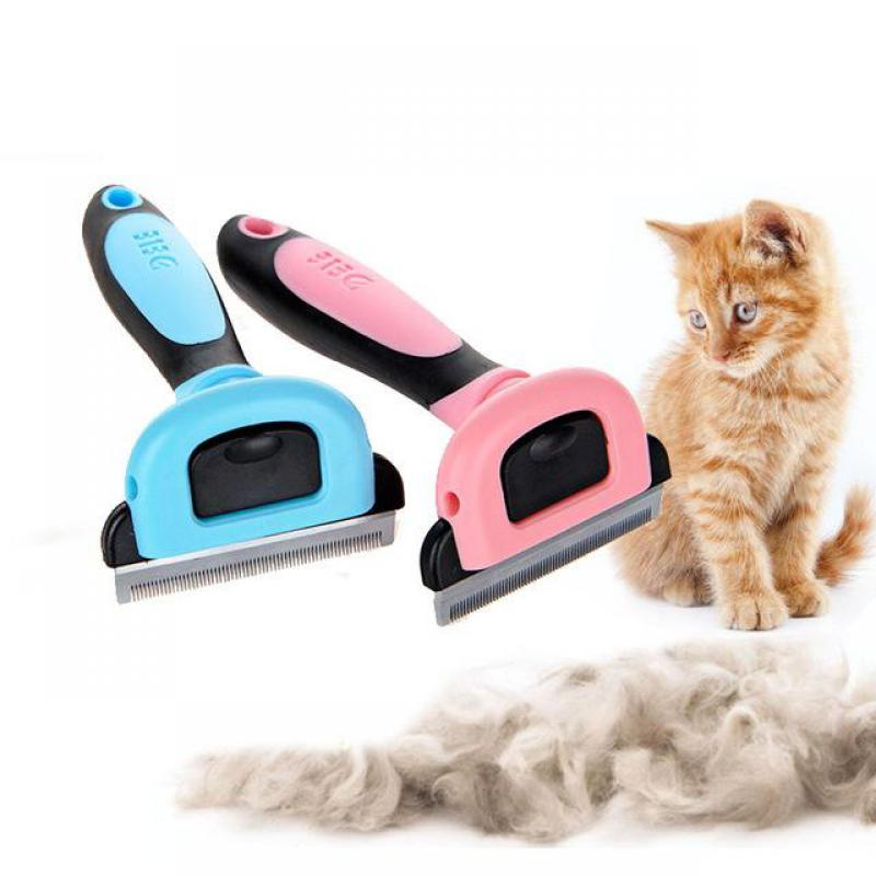 2 Color Pet Dog Cats Hair Grooming Brush Pet Dog Shedding Comb Trimmer Puppy Kitten Hair Clipper Comb Removing Shedding Fur 1