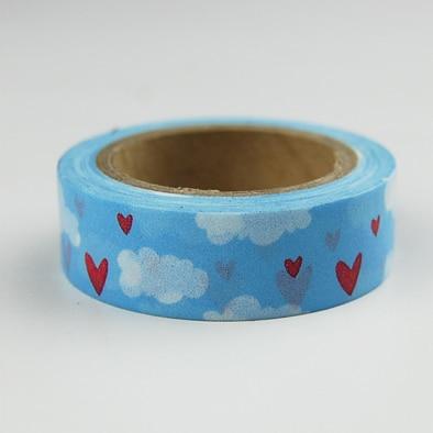 Beautiful High Quality  Washi Paper  Tape/15mm*10m  Blue Sky And White  Cloud  Masking  Japan Washi Tape