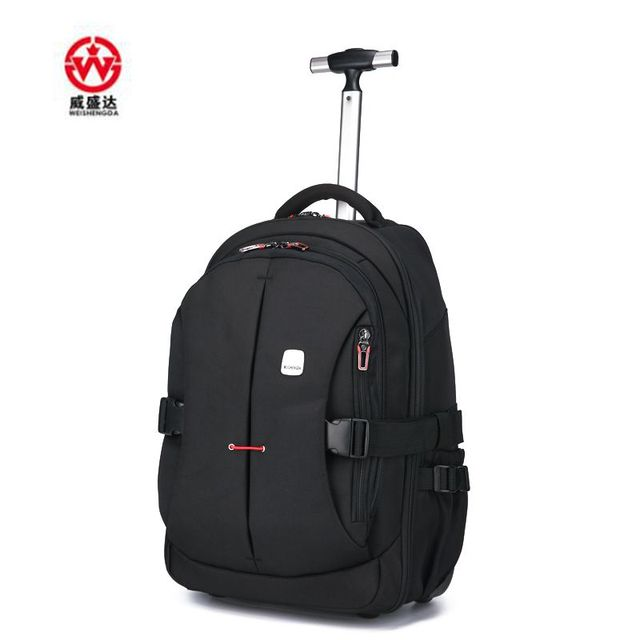Men Oxford Travel trolley Luggage bags Travel trolley Rolling bags Women  wheeled Backpacks Business luggage suitcase 9d563ceb67