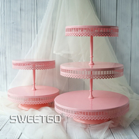 2/3 tiers cake stand metal cupcake stand tools for dessert candy bar accessory for party event wedding bakeware