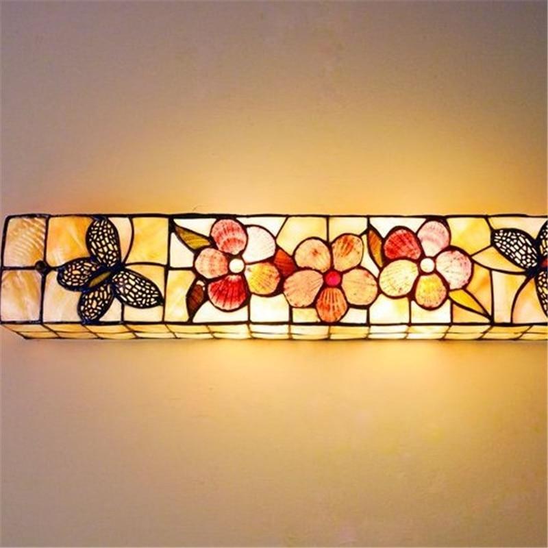 Современные Прямоугольник Настенные светильники бабочка Shell настенные бра E27 лампы источник осветительное оборудование зеркало с подсветк