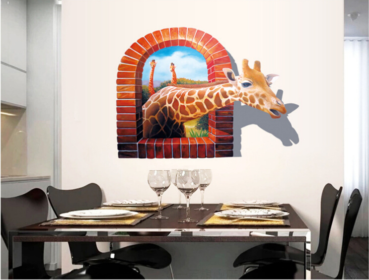 High Quality Kids Bedroom Sticker Wallpaper 3d Wall Stickers Living Room Wall Decals  Home Decoration Wall Art Giraffe And Tiger DIY In Wall Stickers From Home U0026  Garden ... Part 7
