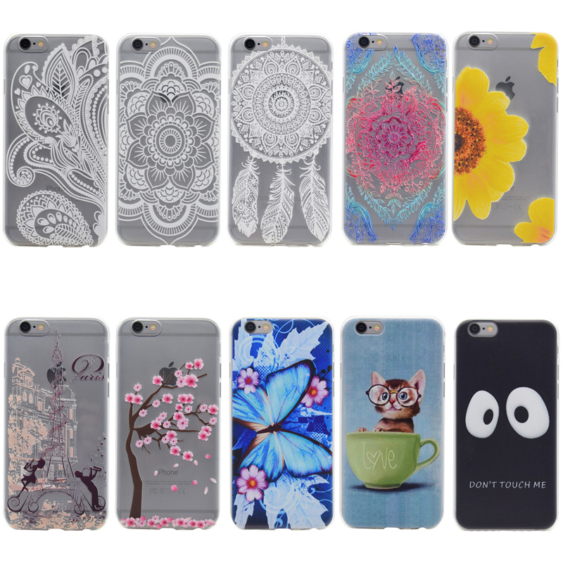 Galleria fotografica Cat Case for Coque Apple iphone 6 Plus 6s Plus Ultra Thin Transparent Cartoon Soft Silicone Cases for iphone 6 Plus case Cover
