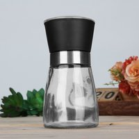 5 pcs Creative Kitchen Accessories Stainless Steel Glass Manual Pepper Salt Spice Mill Grinder Pepper Grinder Spice Container