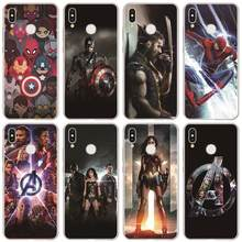 Silicone Soft TPU Case For Huawei Honor View 20 10 8X 8S 7 7A Pro 10 9 Lite Play 10i 20i 8C 8 6A 6X Fashion Marvel Avengers Case(China)