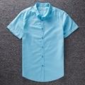 Algodón de lino de la Camisa Social de Gran Tamaño Nueva Moda de Verano Camisas de Manga Corta de Los Hombres camisa Casual Slim Fit Camisa Masculina hombres