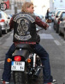 Wholesale Sons Of Anarchy Faux Leather Embroidered Official Vest Cut SOA Patch & Rocker