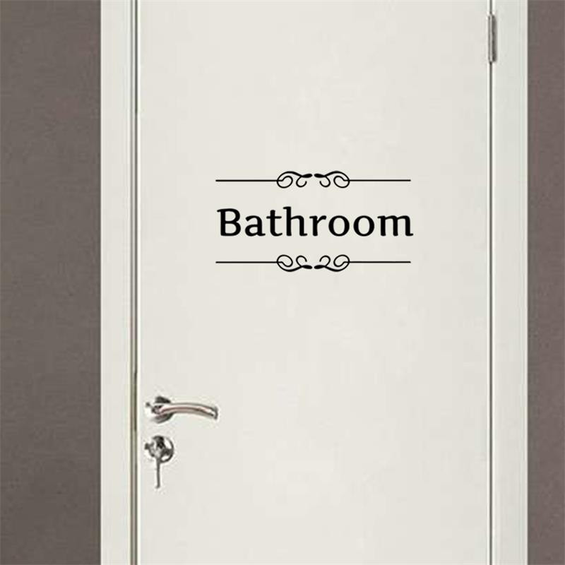 Bathroom Shower Room Toilet Door Decor Sign Stickers For Shop Office Home Cafe School Hotel