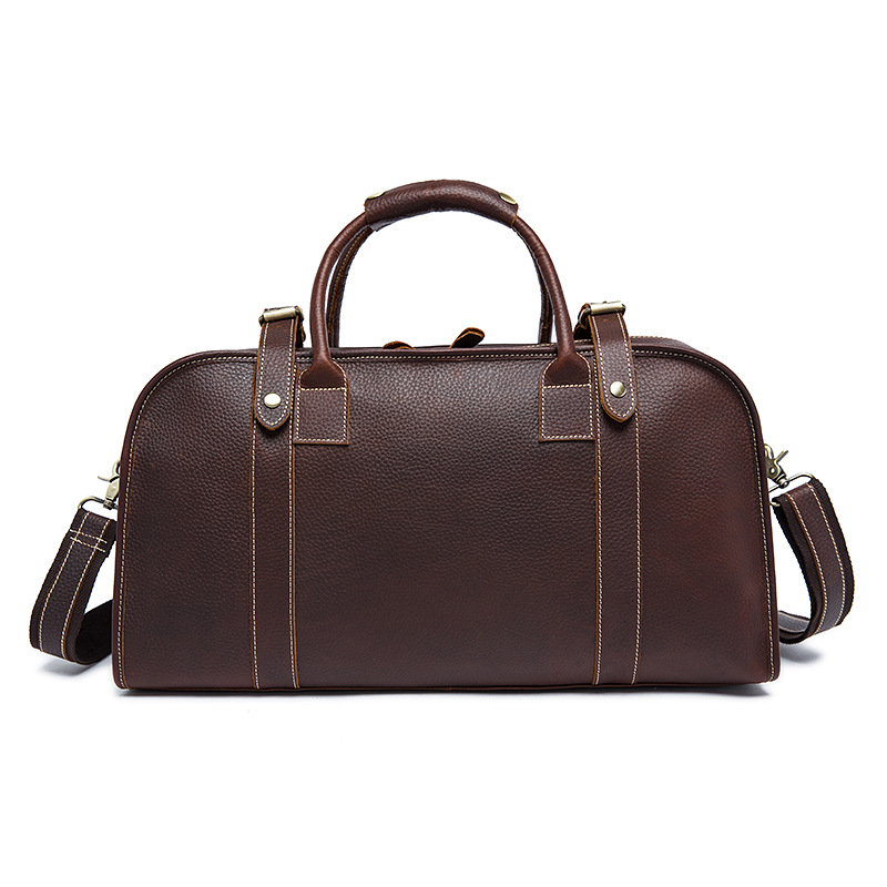 Handbags Trip-Bags Travel Large-Capacity Men Business for Short Genuine-Cowhide
