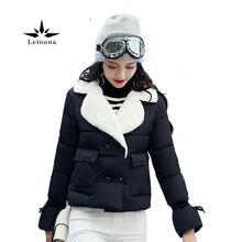 Leiouna Fashion Winter Short Jacket Women s Collar Thicked Warm Wool Blend Cotton Coats Autumn Casaco
