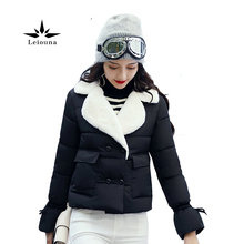 Leiouna Fashion Winter Short font b Jacket b font font b Women s b font Collar