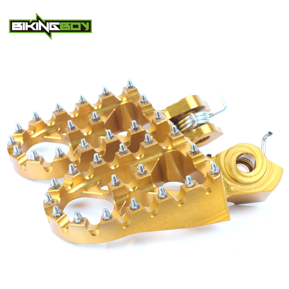 BIKINGBOY For Suzuki RMZ 250 10-16 RMZ 450 10 12 13 14 15 16 Billet MX Motocross Offroad Foot Pegs Footpegs Footrests Pedals allrun 10 12 14 16