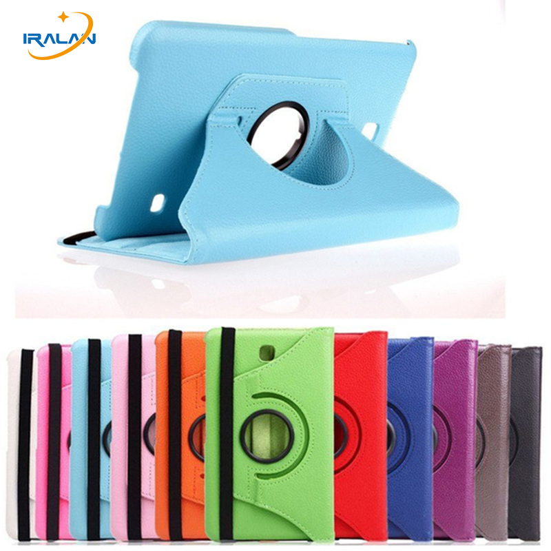 New 360 Rotating PU Leather Tablet Case For Samsung Galaxy Tab 4 8.0 T330 T331 T335 Stand Cover+screen protector film+stylus pen 3 in 1 high quality business smart pu leather book cover case for samsung galaxy tab s2 t710 t715 8 0 stylus screen film