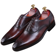 Goodyear Welt shoes black   brown tan oxfords mens wedding shoes genuine leather  business shoes mens 0be7965ea1e2