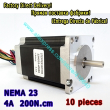 Hot Sales 10 Pieces High Torque Stepper Motor 23HS33-4008S  L 84 mm Nema 23 with 1.8 deg  4 A  200 N.cm and  bipolar 8 wires