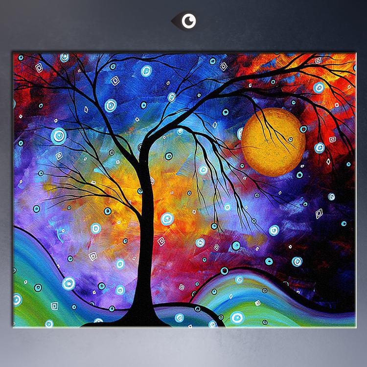 Peinture A L Huile Abstraite Celebre Tableau De Paysage En Couleur Sur Toile Livraison Directe En Gros Aliexpress