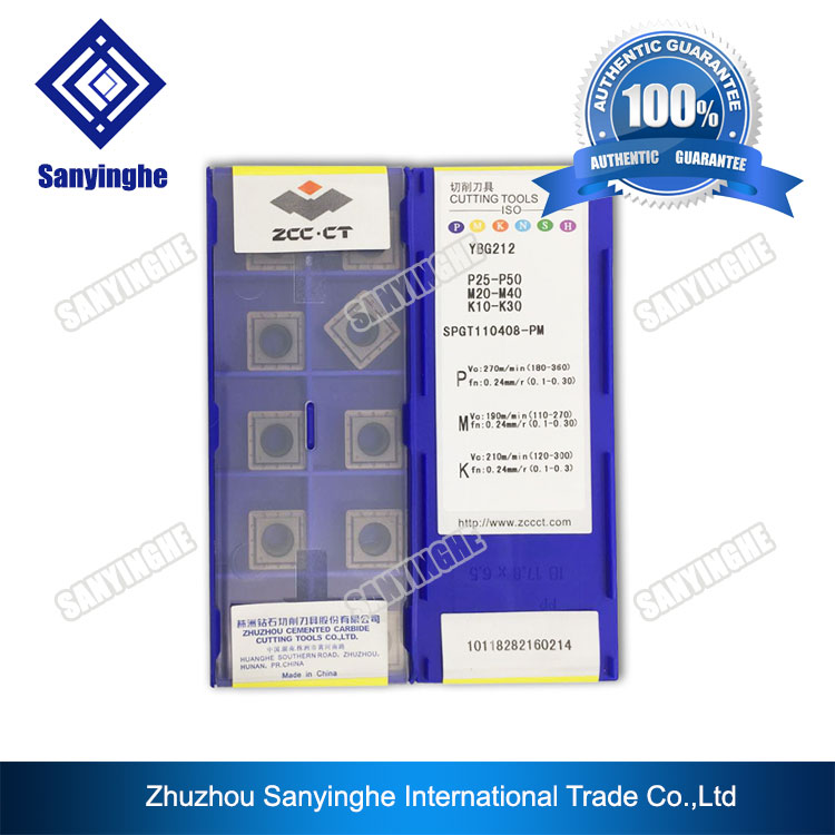 Free shipping YBG212 SPGT110408 PM ZCC CT solid cemented carbide drill inserts 10PCS