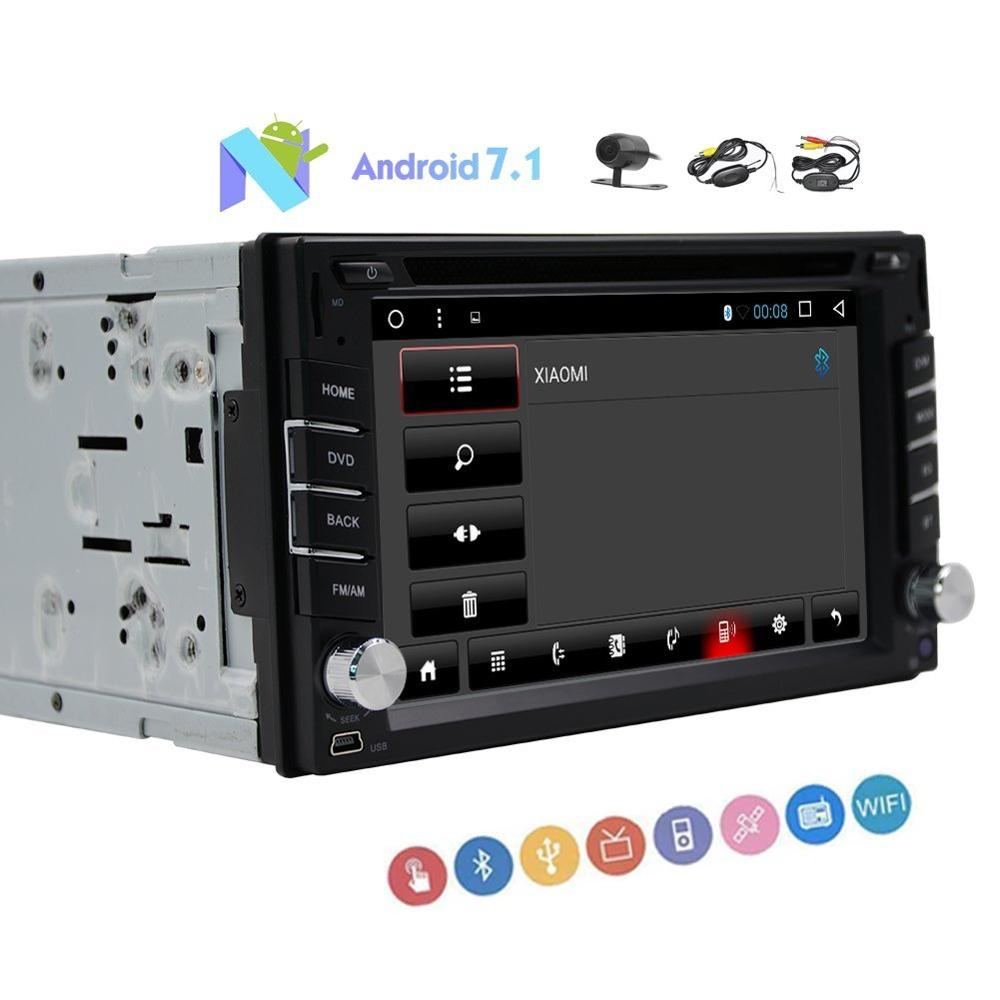 car head unit dual DIN audio Android 7.1 GPS DVD disc player wireless rear camera support the wife OBD 3G 4G SD USB music input