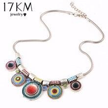 17 KM de Las Mujeres Encantos de Los Rhinestones Gargantilla Collar de Moda Collar Llamativo Chunky Collares 2016 Boho Maxi de La Vendimia Collares