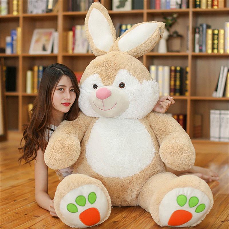Géant grand Animal lapin jouets en peluche doux grands animaux en peluche poupée enfants cadeau nouveau mignon PP coton