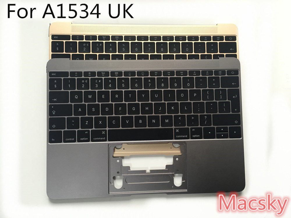 Brand New Genuine UK Top case for MacBook Pro Retina 12 Core M 12 A1534 UK MF865 topcase with keyboard Backlight 2015 2016 canon pgi 5bk black картридж для струйных мфу принтеров