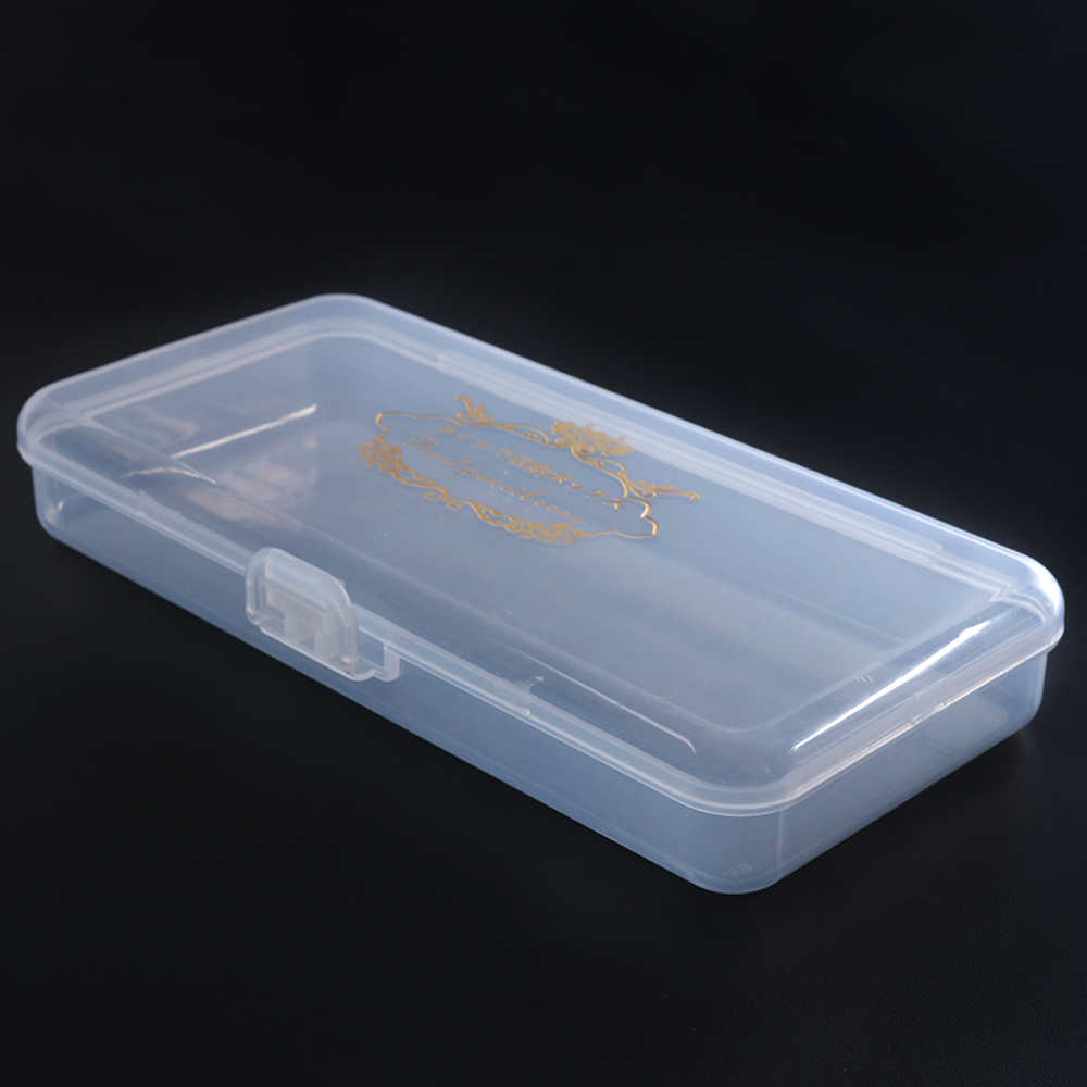 1Pc Clear Empty Nail Art Storage Box Drill Bit Holder Organizer Manicure Makeup Tool Container Nail Accessory Display Case SA878