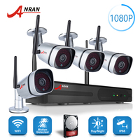 NEW ANRAN Plug Play P2P 1080P 4CH WIFI NVR Kit Outdoor 36 IR Night Video 2
