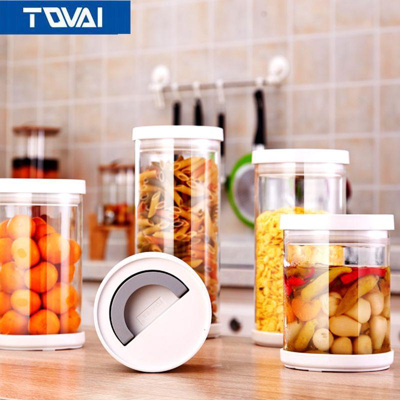 TQVAI Sealed Moisture Proof Storage Tank, 500ml 2100ml, Kitchen Life Essential  Equipment Part 37