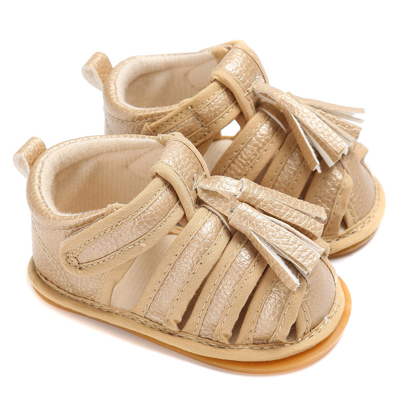 1 Pair Newborn Baby Girls Boys Breathable Hollow Summer Casual Shoes Slippers Prewalker with Tassel @ZJF
