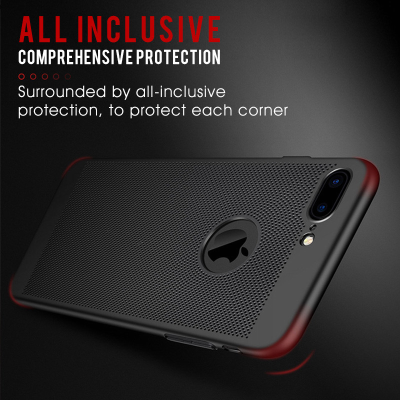 GVU Luxury Hard Back Radiating Shockproof Cases For iPhone 7 8 Plus 7 X Case Phone Cover For iPhone 8 7 Plus 8Plus X Case