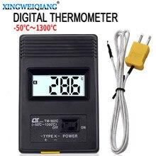 Thermomètre numérique avec sonde thermocouple type K (TM-902C), système de mesure de la température avec capteur, -50°C/1300 °C