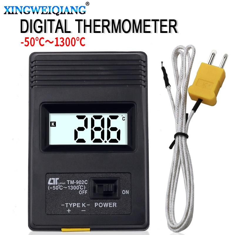 TM-902C (-50C to 1300C) Temperature Meter TM902C Digital K Type Thermometer Sensor+Thermocouple Probe Detector