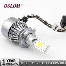 Oslam H7 COB LED Фары Автомобиля Лампа Комплект 72 Вт 8000lm Авто передний Свет H7 Противотуманные фары Лампы 6500 К 12 В 24 В Привело Автомобильной фары