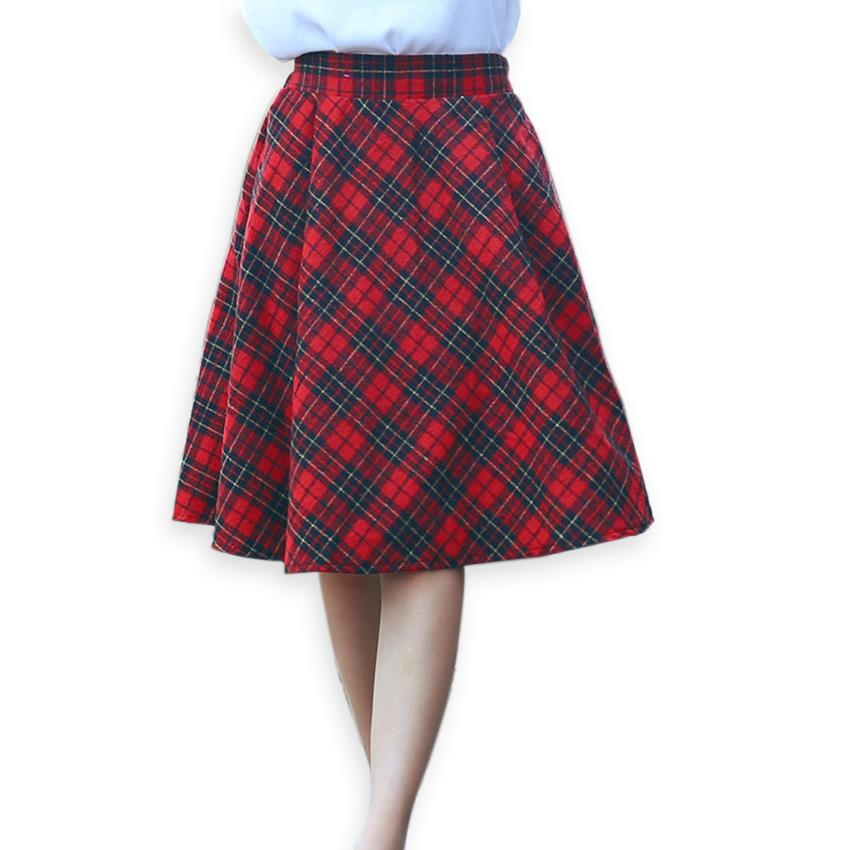 Plaid Red Skirt