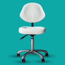 Beauty Stool Chair Back Support Dentist Doctor Medical Office Salon Spa Tattoo Equipment Hydraulic Adjustable Rolling Stool
