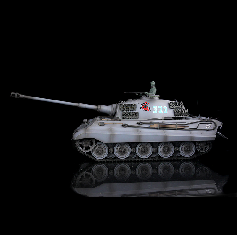 Gray HengLong 1/16 Scale German King Tiger RTR RC Tank Model Plastic Version 3888A все цены